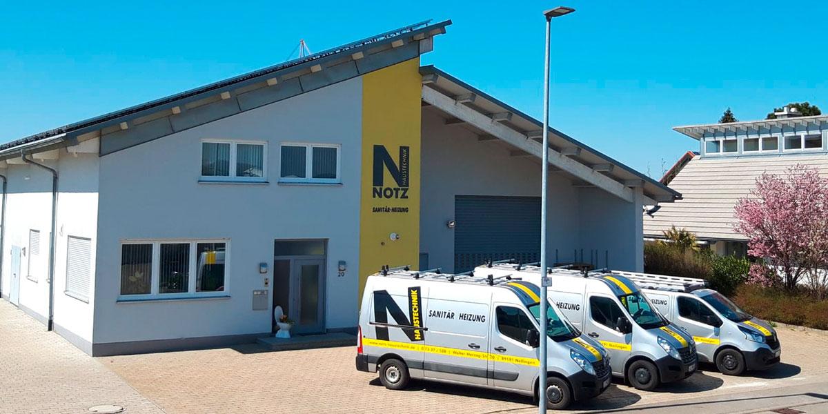Firmengebäude von Notz Haustechnik in Nellingen